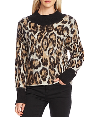 Vince Camuto Sweaters LEOPARD MOCK-NECK SWEATER