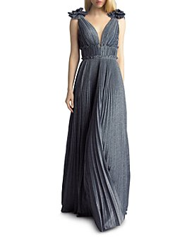 Basix - Pleated Shimmer Gown