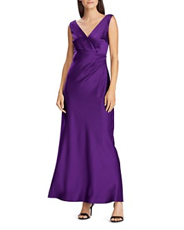 Ralph Lauren - Satin V-Neck Gown