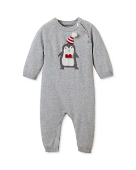 Elegant Baby - Boys' Knit Penguin Coverall - Baby
