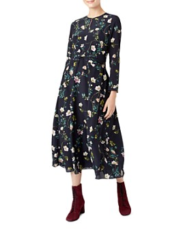 HOBBS LONDON - Hellebore Silk Midi Dress
