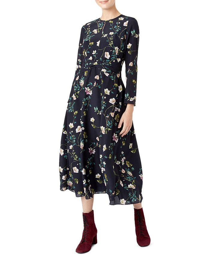 HOBBS LONDON - Hellebore Silk Midi Dress