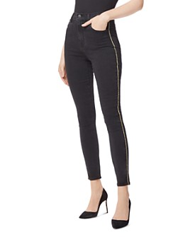 J Brand - Leenah High Rise Skinny Ankle Jeans in Provocative Gold Braid