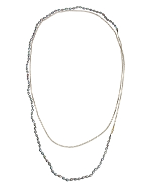 Allsaints Long Cultured Freshwater Pearl Necklace, 59