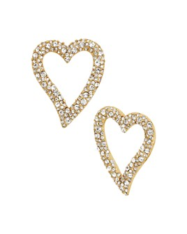 BAUBLEBAR - Lyra Pavé Heart Earrings