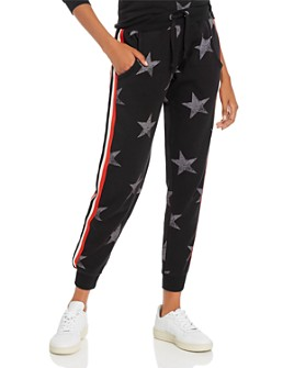 Vintage Havana - Striped-Trim Star Print Jogger Pants
