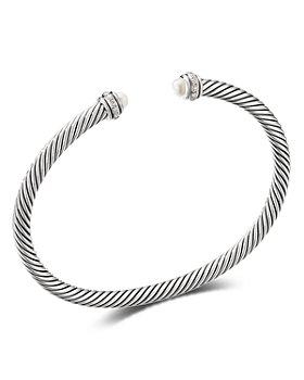David Yurman - Sterling Silver Cable Classic Bracelet with Gemstones & Diamonds, 4mm