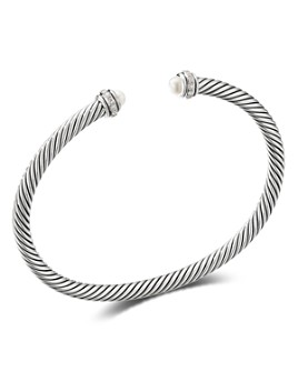 David Yurman - Sterling Silver Cable Classic Bracelet with Gemstones & Diamonds, 4mm