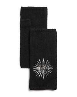 Carolyn Rowan Accessories - Swarovski-Crystal Starburst Cashmere Fingerless Mittens