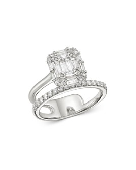 Bloomingdale's - Diamond Mosaic Ring in 14K White Gold, 0.75 ct. t.w. - 100% Exclusive