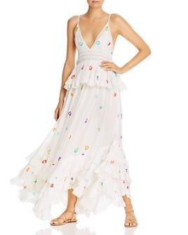 Rococo Sand - Dara Rainbow Sequin Leopard Maxi Dress