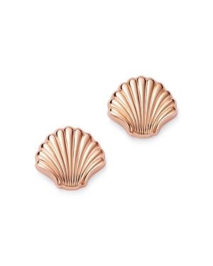 Bloomingdale's Shell Stud Earrings in 14K Rose Gold - 100% Exclusive