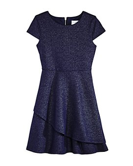 US Angels - Girls' Cap-Sleeve Sparkle Dress, Little Kid - 100% Exclusive