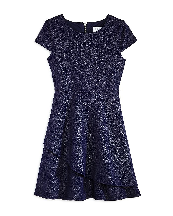 US Angels - Girls' Cap-Sleeve Sparkle Dress, Little Kid - 100% Exclusive