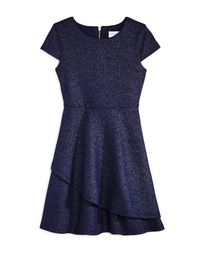 US Angels US Angel Girls' Cap-Sleeve Sparkle Dress, Little Kid - 100% Exclusive    Bloomingdale's