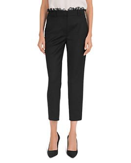 The Kooples - Cropped Lace-Trimmed Wool Pants
