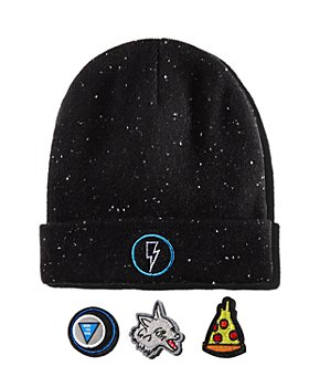 Rockets of Awesome - Unisex Galaxy Speckled Patch Beanie - Little Kid, Big Kid