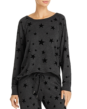 Pj Salvage Night Sky Flocked Star Top