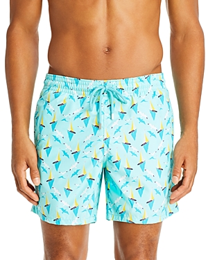 Vilebrequin Pants BOATS ON WATER SWIM TRUNKS