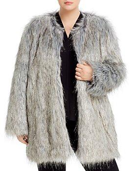 Unreal Fur Plus - Fire & Ice Metallic Faux-Fur Coat