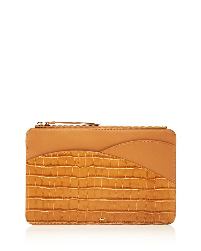 Chloé - Walden Croc-Embossed iPad Pouch