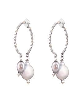Alexis Bittar - Pavé & Cultured Freshwater Baroque Pearl Drop Earrings