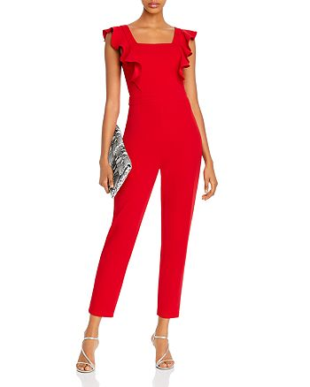 AQUA - Ruffled Tie-Waist Jumpsuit - 100% Exclusive