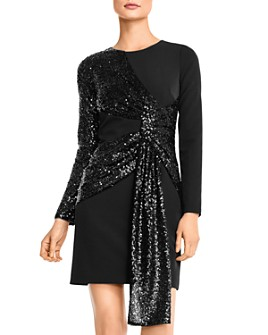 Aidan by Aidan Mattox - Sequin-Draped Cocktail Dress