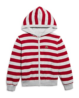 Lacoste - Boys' Reversible Zip Hoodie Cardigan - Little Kid, Big Kid