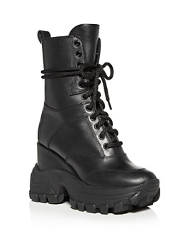 Miu Miu - Women's Hidden Wedge Platform Combat Boots