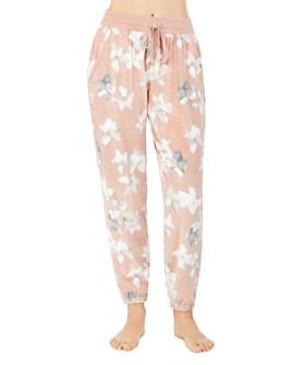 Donna Karan - Floral Velour Jogger Pants