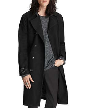 John Varvatos Collection - Suede Regular Fit Trench Coat