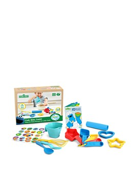 Green Toys - Sesame Street Cook, Bake, Create! Recipe Activity Set - Ages 2+