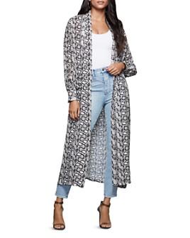 Good American - Sheer Snakeskin-Print Long Kimono