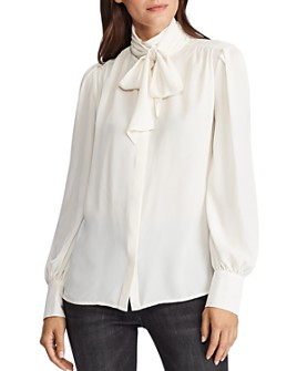 Ralph Lauren - Georgette Tie-Collar Blouse