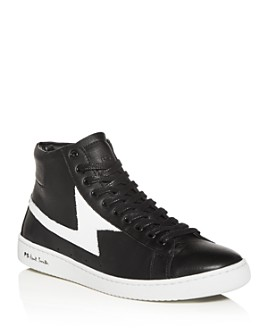 Paul Smith - Men's Zag Lightning Leather High-Top Sneakers