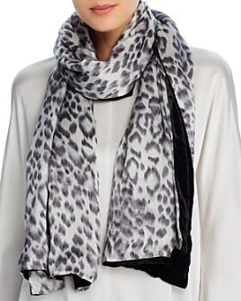 Echo - Leopard-Print & Velvet Oblong Scarf