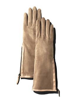 Portolano - Zip Detail Suede Gloves