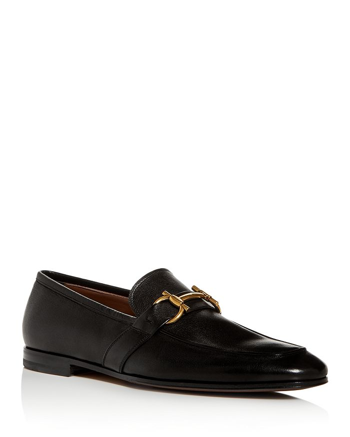 Salvatore Ferragamo - Men's Sherman Gancini Leather Apron-Toe Loafers
