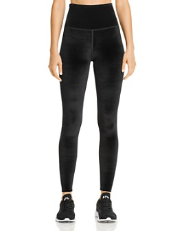 Beyond Yoga - High-Rise Midi Velvet Leggings