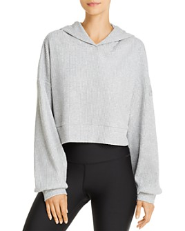 Alo Yoga - Muse Rib-Knit Hooded Sweatshirt