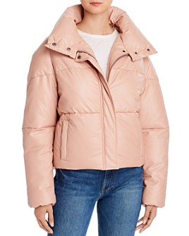 Apparis - Camila Quilted Faux-Leather Puffer Jacket