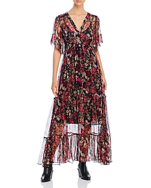 Johnny Was Dresses RACHEL SILK CHIFFON MAXI DRESS