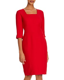 Donna Karan - Square-Neck Sheath Dress
