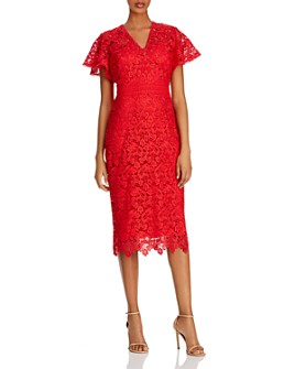 Shoshanna - Taylor Imperial Lace Midi Dress
