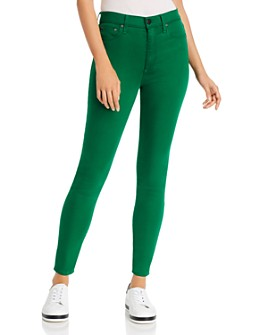 Alice and Olivia - Good High-Rise Skinny Jeans in Basil