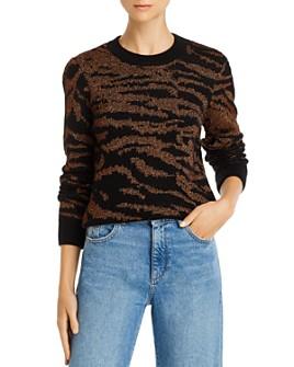 PAM & GELA - Metallic Tiger-Stripe Sweater
