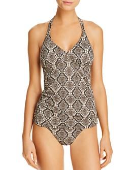Tommy Bahama - Desert Python Reversible Tankini Top & Reversible Bikini Bottom
