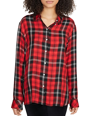 Sanctuary T-shirts LIFE OF THE PARTY BOYFRIEND PLAID SHIRT