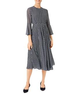 HOBBS LONDON - Lilia Polka Dot Midi Dress